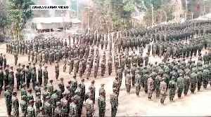 Buddhist rebels clash with Myanmar forces, thousands displaced [Video]