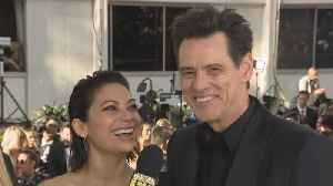 Jim Carrey Gushes Over New GF Ginger Gonzaga at the 2019 Golden Globes (Exclusive) [Video]