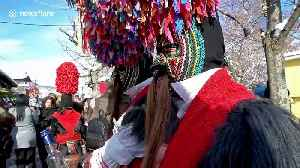 Greek village holds pagan ritual to scare away evil spirits at the new year [Video]