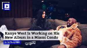 Kanye West Is Working on His New Album in a Miami Condo [Video]