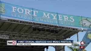 First annual Seafood and Music Festival held in Fort Myers [Video]
