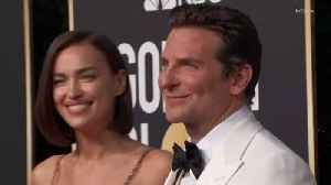 Right Now: Bradley Cooper and Irina Shayk Made a Rare Red Carpet Outing at the Golden Globes [Video]