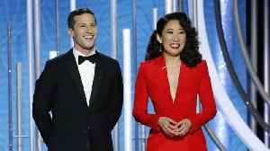 Andy Samberg and Sandra Oh Kick Off Golden Globes With Friendly Roast   THR News [Video]