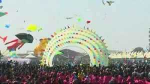 Over 45 countries participate in India's vibrant kite festival [Video]