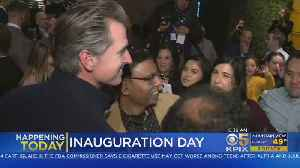 Newsom To Be Sworn-In As California Governor [Video]