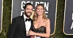 Heidi Klum Gives a Close-Up Look at Her New Emerald Engagement Ring at 2019 Golden Globes [Video]