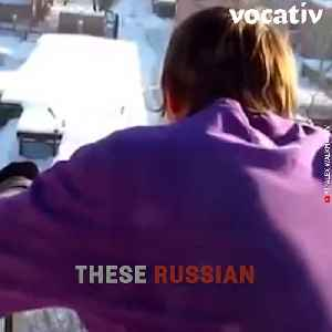 Crazy Russians are Jumping from 9 Story Buildings into the Snow [Video]