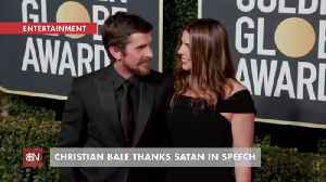Christian Bale Accepts Golden Globe Award And Thanks Satan [Video]