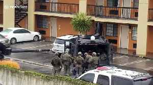 Exclusive footage shows moment man barricaded at Culver City motel is removed by officers after shooting [Video]