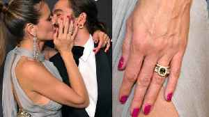 Heidi Klum Flashes Gorgeous Emerald Engagement Ring at Golden Globes After-Party [Video]