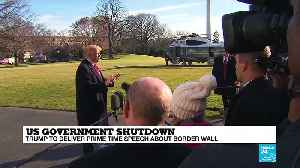 News video: US Government shutdown: Donald Trump to deliver prime time speech about border wall