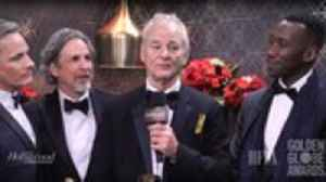 Bill Murray Crashes 'Green Book' Winners Backstage Interview   Golden Globes [Video]