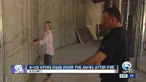 SHOE STORE RISES FROM THE ASHES AFTER FIRE [Video]