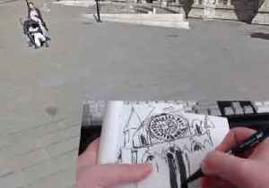 Artist Draws on the Power of Google Street View to Sketch Cathedral [Video]