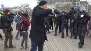 Former French boxing champ surrender after punching police in protest [Video]
