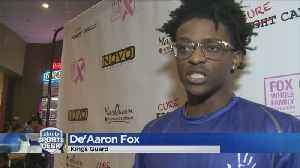Kings' De'Aaron Fox Lends Continued Support To Breast Cancer Awareness [Video]