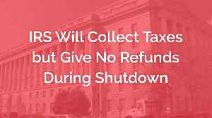 Sorry...No Tax Refund During Government Shutdown [Video]