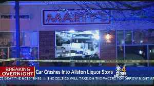 One Person Seriously Hurt After Car Crashes Into Liquor Store [Video]