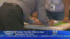 Former Felons Can Now Register To Vote [Video]