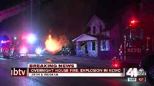 News video: Kansas City home explodes, catches neighboring homes on fire