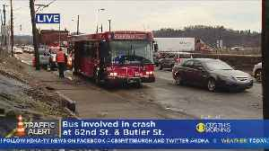 Injuries Reported In Lawrenceville Crash Involving Port Authority Bus [Video]