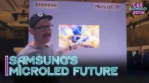First Look At Samsung's MicroLED TV Future   CES 2019 [Video]