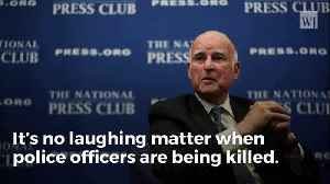 What Jerry Brown Just Said About Slain Cop Should Have Him BOOTED From Office [Video]
