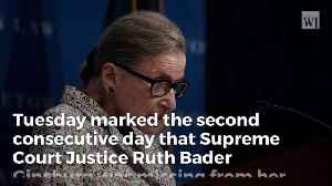 Ruth Bader Ginsburg Misses Second Consecutive Day of Supreme Court Hearings [Video]