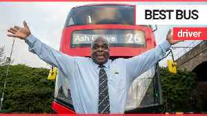 News video: Former homeless person crowned London's top bus driver