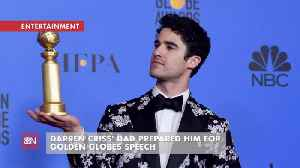 It Helps To Have Dad's Advice When You Win A Golden Globe Award [Video]
