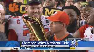 Clemson Wins College Football National Championship Over Alabama, 44-16 [Video]