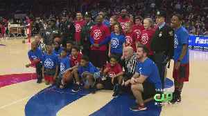 Children With Police Athletic League Showed Off Skills At Sixers Game [Video]