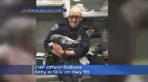 CHP Officer Delivers A Baby On Side Of The Road [Video]