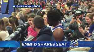 Young Fan Shares Seat With Joel Embiid [Video]