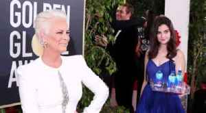 Jamie Lee Curtis Not Happy About 'Fiji Water Girl' Photobomb [Video]