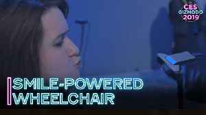 Facial Expressions Move This Wheelchair | CES 2019 [Video]
