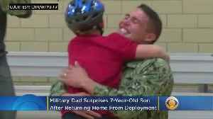 Navy Father Surprises Son At School After 20-Month Separation [Video]