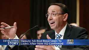 Fmr. Maryland AG Rosenstein Plans To Leave Justice Dept. Shortly After Barr Confirmed [Video]