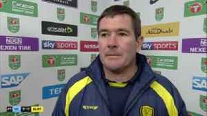 Clough: Night about achievement, not result [Video]