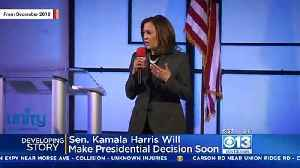 Report: Kamala Harris 'Finalizing Plans' To Announce She's Running For President [Video]