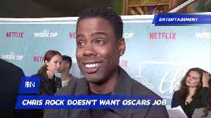 Chris Rock Isn't Taking Oscars Hosting Job Either [Video]