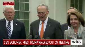 Trump Goes After 'Cryin' Chuck Schumer Over Meeting: I Said 'Bye-Bye,' There Was 'No Slamming' [Video]