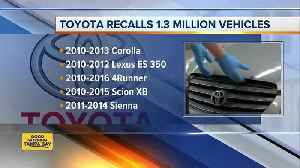 Toyota recalls another 1.7M vehicles to fix air bags [Video]