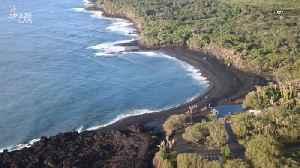 Kilauea Eruption in Hawaii Created a New Black Sand Beach [Video]