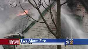 News video: Crews Battle 2-Alarm House Fire In Wilkinsburg