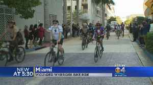 Wounded Warriors Participate In Annual Ride [Video]