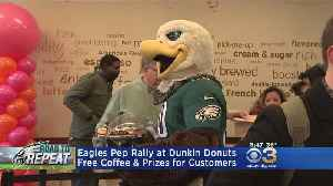 Pep Rally Held For Eagles At Philly Dunkin' [Video]