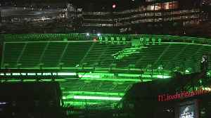 The Linc Glowing Green For The Eagles [Video]