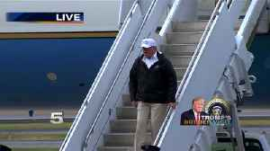 President Trump Exits Air Force One [Video]
