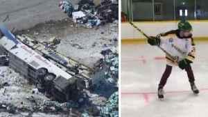 News video: Teen Hockey Player Returns to Ice After Surviving Deadly Bus Crash